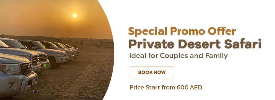 Private Desert Safari Special promo offer